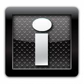 Info metallic icon