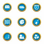 College Of Art Icons Set. Flat Set Of 9 College Of Art Vector Icons For Web Isolated On White Backgr poster