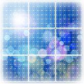 cielo de panel & azul de energía solar. Mapa de bits copiar mi ID 65081116 del vector