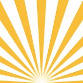 Ray Retro Background Yellow Colored Rays Stylish. Eps10. Vector Illustration poster