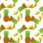Seamless Pattern With Tropical Ananas. Element For Design Of Invitations, Movie Posters, Fabrics And poster