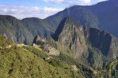 Machu Pichu With Huayna Picchu From Far