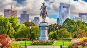 George Washington Monument at Public Garden in Boston, Massachusetts. poster