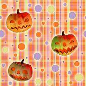 halloween texture with pumpkins