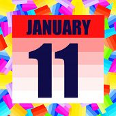 January 11 Icon. For Planning Important Day. Banner For Holidays And Special Days. January 11. Illus poster