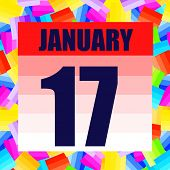January 17 Icon. For Planning Important Day. Banner For Holidays And Special Days. January Seventeen poster