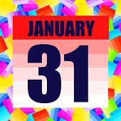 January 31 Icon. For Planning Important Day. Banner For Holidays And Special Days. January 31. Illus poster