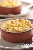 Macaroni and cheese in a pot