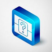 Isometric Mystery Box Or Random Loot Box For Games Icon Isolated On White Background. Question Box.  poster