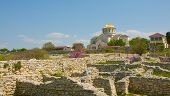 Catedral de St Vladimir. Jutlandia cerca de Sebastopol, en Crimea