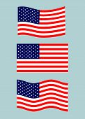 American Flag. Vector Image Of American Flag. American Flag Background. American Flag Illustration.  poster