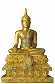 Isolated with Golden Buddha Statue