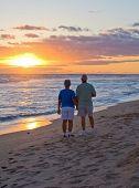 Couple Walking At Sunset 2