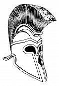Monochrome korinthischen Helm