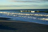 Large Cresting Crashing Waves On Bonita Beach At The Gulf Of Mexico In Bonita Springs Florida At Sun poster