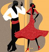 couple of  flamenco dancer