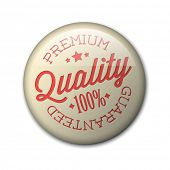 Vector retro premium quality red detailed badge