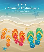 picture of thong  - Holiday greeting card with family flip - JPG