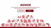 Advice Help Assistant Landing Web Page Header Banner Template Vector. Human Silhouette And Call, Int poster