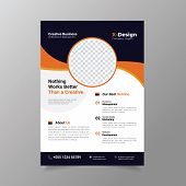 Business Brochure Flyer Design Layout Template In A4 Size.,annual Report, Magazine, Poster Or Bookle poster