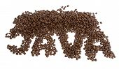 Java Spelled With Coffee Beans