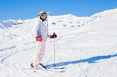 Young girl a ski wear