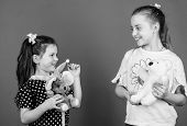 Child Care. Sisters Or Best Friends Play. Sweet Childhood. Childhood Concept. Preparing For Life. To poster