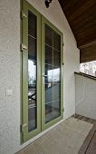 Green Colored Fiberglass Door