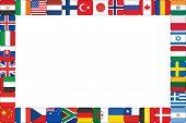 Frame Made Of World Flag Icons