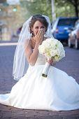 Bride Holding Back Tears