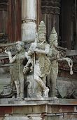 Sculptures in a temple of Thailand