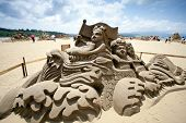 Dragon Boat Sand Sculpture