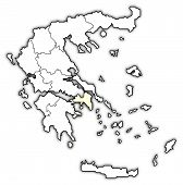 Map Of Greece, Attica Highlighted