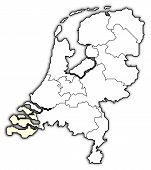 Map Of Netherlands, Zeeland Highlighted