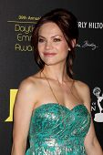 LOS ANGELES - JUN 23:  Rebecca Herbst arrives at the 2012 Daytime Emmy Awards at Beverly Hilton Hote