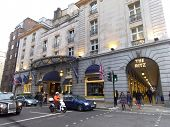 LONDON - UK, April 08: The Ritz hotel where Margaret Thatcher has died from a stroke aged 87 on April 8, 2013 in London.