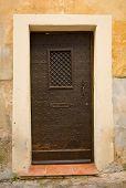 Medieval Iron Door In France