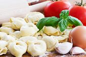 Tortellini, italian cuisine  - homemade italian food