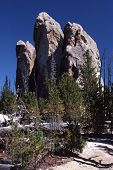 image of hoodoo  - These eroded granite hoodoos sit upon ridge tops in Idaho - JPG