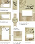 Floral Wedding Stationery Template.  Use to print your own Wedding stationery. Simply add your own n