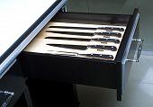 Knife Set In Modern Kitchen 2