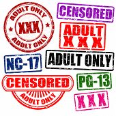 Set Of Adults Only Stamps