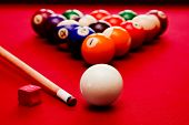 stock photo of indoor games  - Billards pool game - JPG