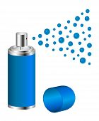 Spray in blue design