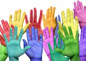 Many Colorful Hands