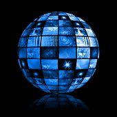 Blue Futuristic Digital Tv Background