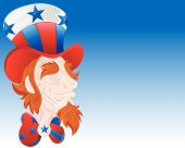 Uncle Sam Face Closeup Vector