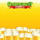 Beer Fest Party Background. Bright Template with Place for Text