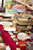 picture of flea  - Antique objects in a flea market in London - JPG