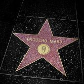 LOS ANGELES - OCTOBER 16: Groucho Marx star in Hollywood Walk of Fame on October 16, 2011 in Los Ang